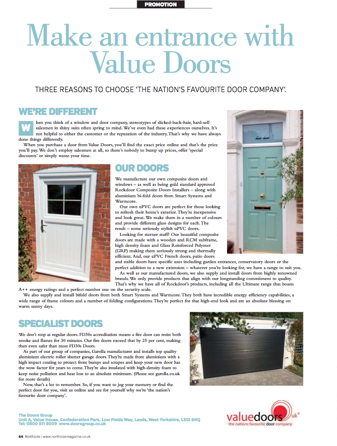 (ED.)Make an entrance with Value Doors